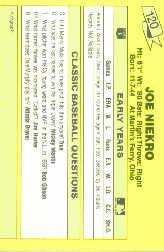 1987 Classic Update Yellow #120 Who Me (Joe Niekro) back image