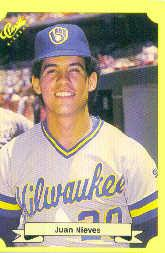 1987 Classic Update Yellow #136 Juan Nieves