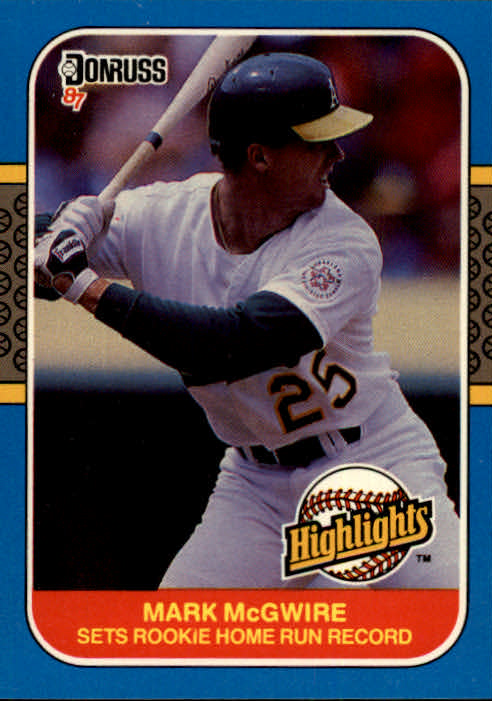 1987 Donruss Highlights #27 Mark McGwire