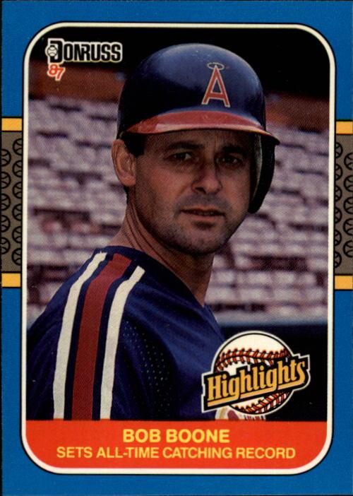 1987 Donruss Highlights #41 Bob Boone