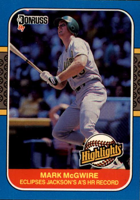 1987 Donruss Highlights #46 Mark McGwire