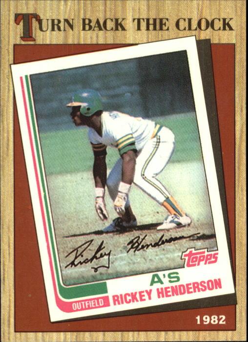 1987 Topps Tiffany #311 Rickey Henderson TBC