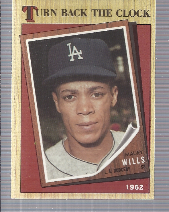 1987 Topps Tiffany #315 Maury Wills TBC '62