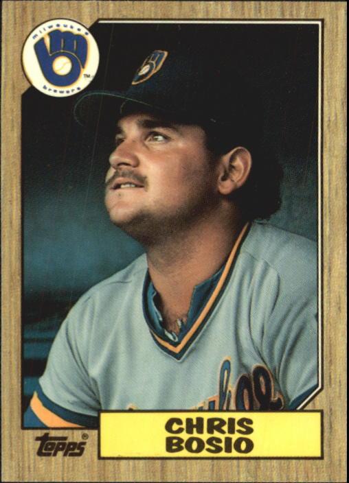 1987 Topps Tiffany #448 Chris Bosio