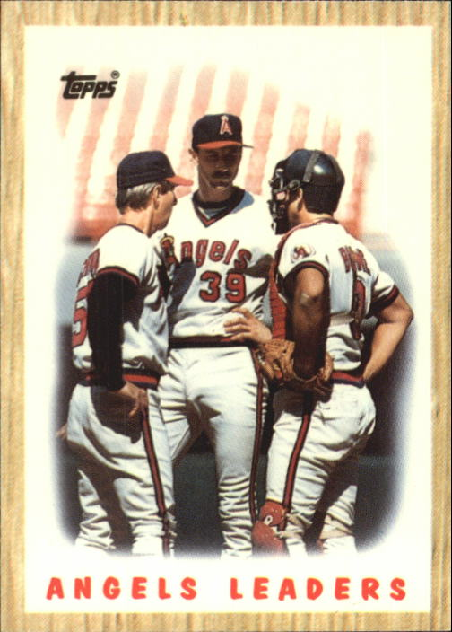 1987 Topps Tiffany #556 Angels Team/(Rene Lachemann CO&/Mike Witt& and/