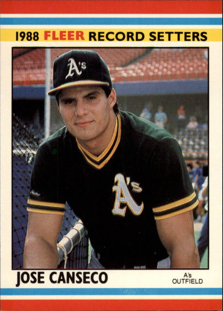 1988 Fleer Record Setters #4 Jose Canseco