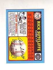 1988 Topps UK Minis Tiffany #77 Rick Sutcliffe back image