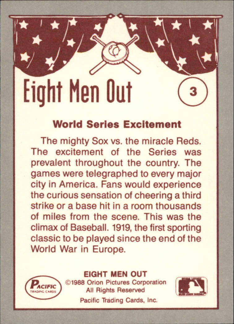 1988 Pacific Eight Men Out #3 The Series back image