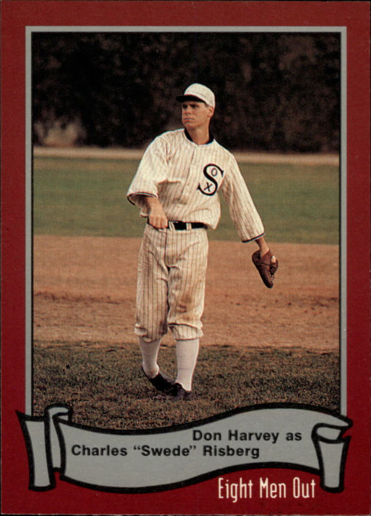 1988 Pacific Eight Men Out #16 Don Harvey as/Swede Risberg