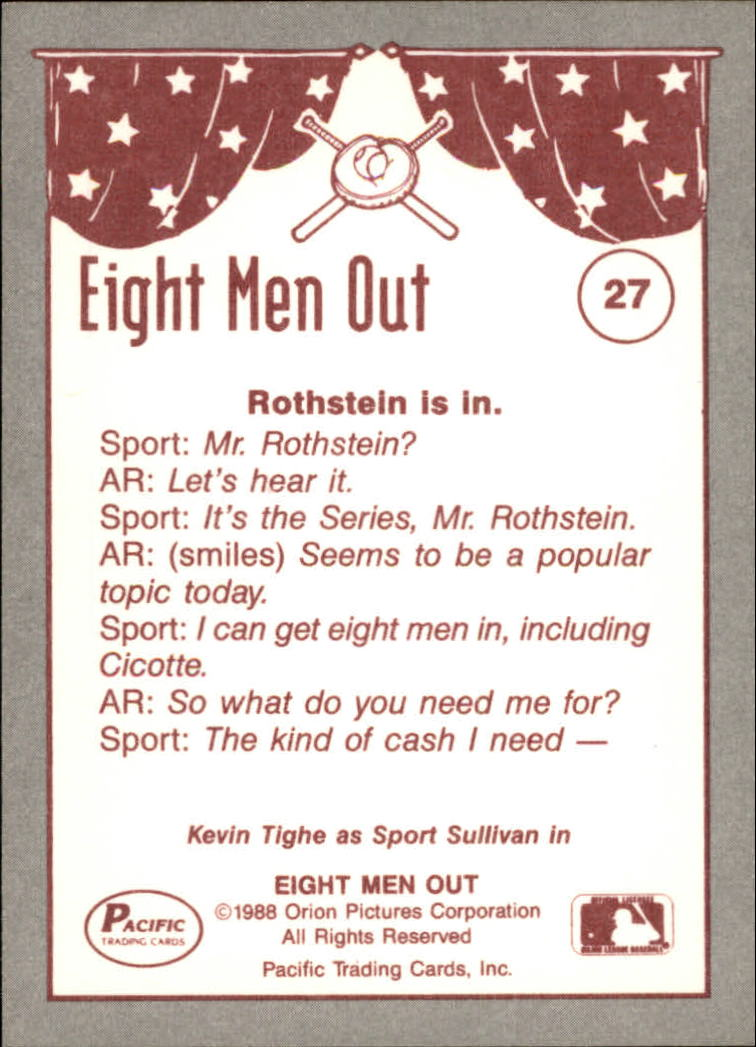 1988 Pacific Eight Men Out #27 Sport Sullivan back image