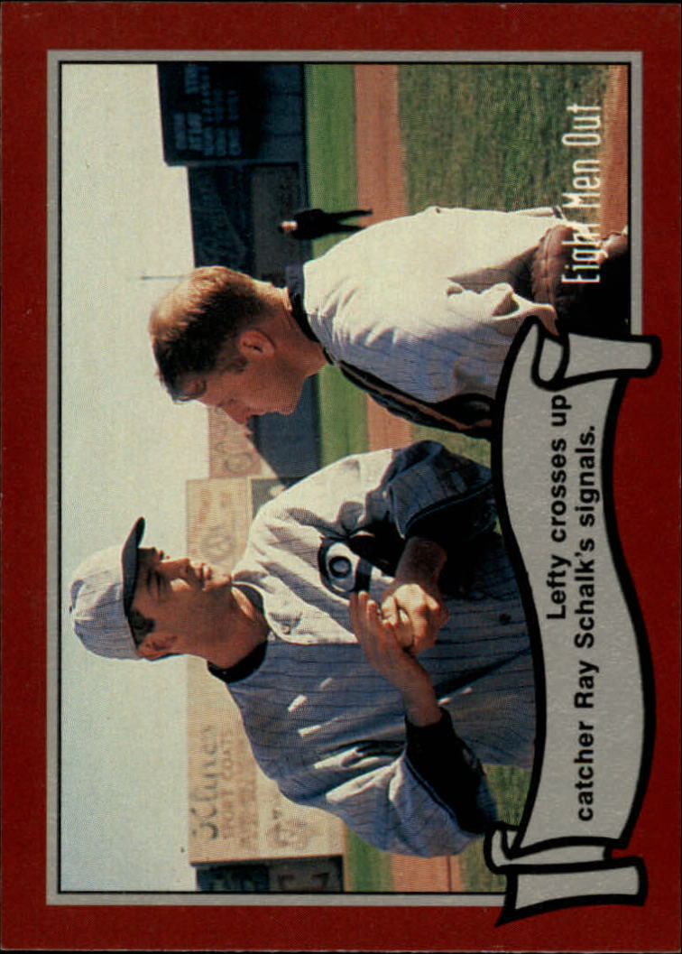 1988 Pacific Eight Men Out #45 Lefty Crosses Up/Catcher Ray Schalk