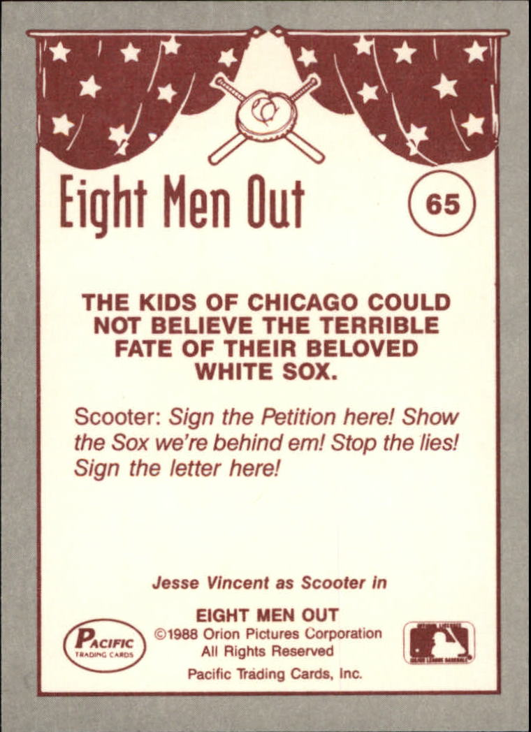 1988 Pacific Eight Men Out #65 Sign The Petition back image