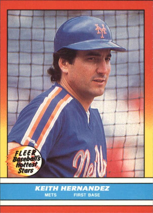 Details About 1988 Fleer Hottest Stars New York Mets Baseball Card 17 Keith Hernandez