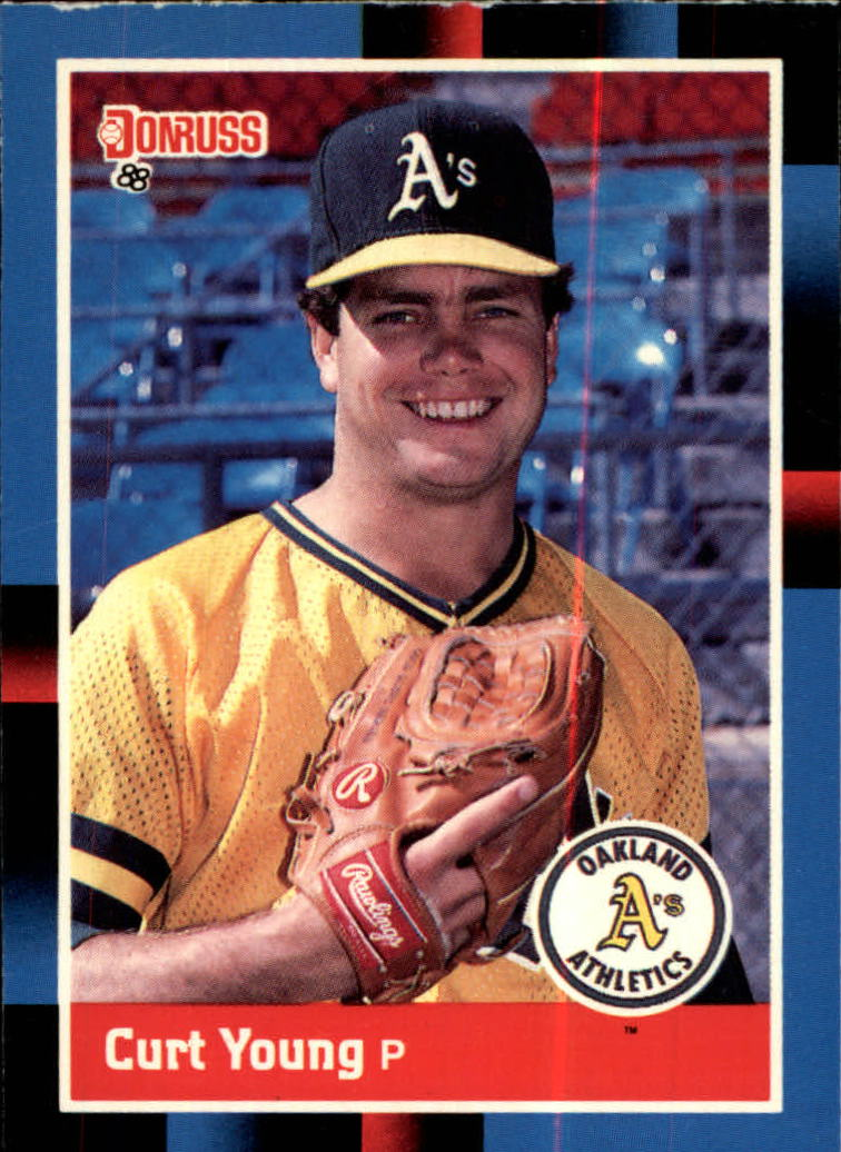 1988 A's Donruss Team Book #97 Curt Young