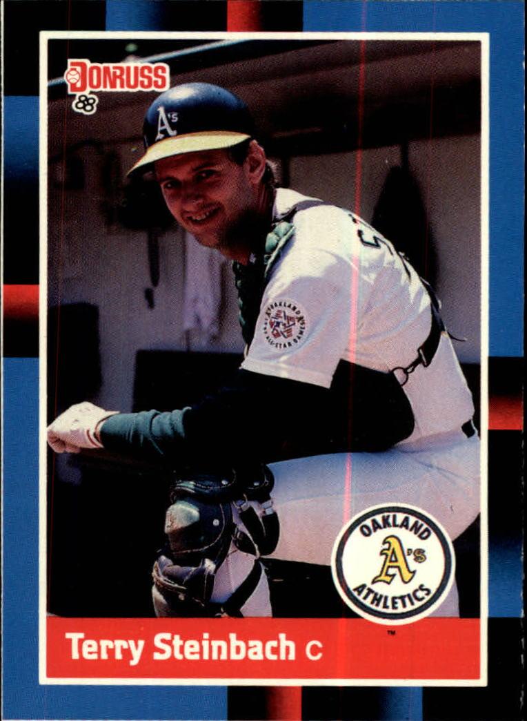 1988 A's Donruss Team Book #158 Terry Steinbach