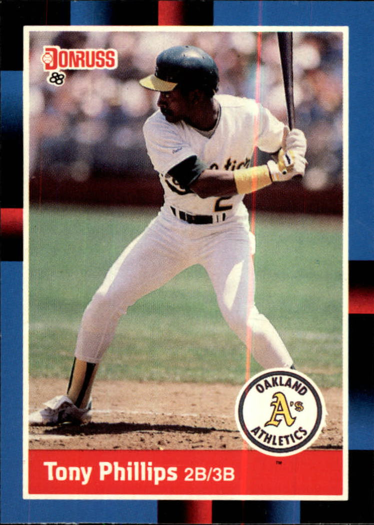 1988 A's Donruss Team Book #221 Tony Phillips