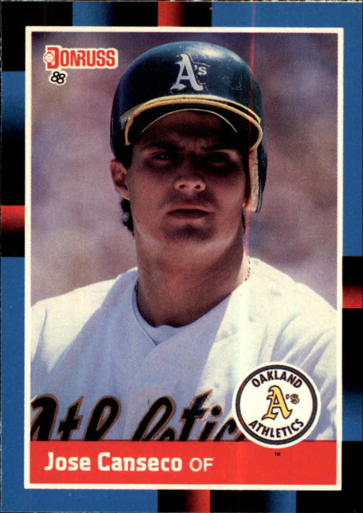 1988 A's Donruss Team Book #302 Jose Canseco