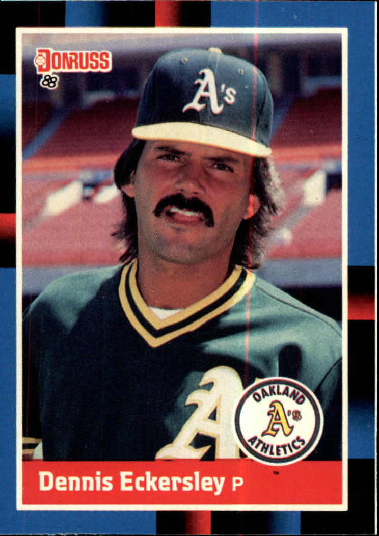 1988 A's Donruss Team Book #349 Dennis Eckersley