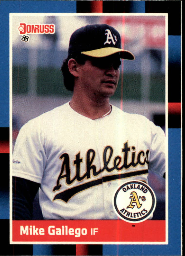 1988 A's Donruss Team Book #379 Mike Gallego