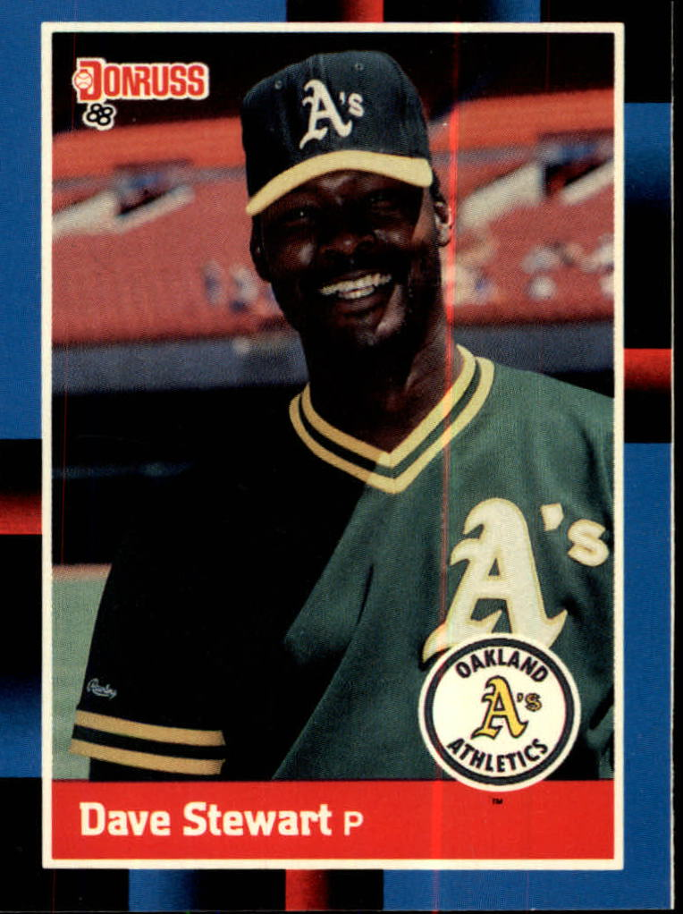 1988 A's Donruss Team Book #472 Dave Stewart