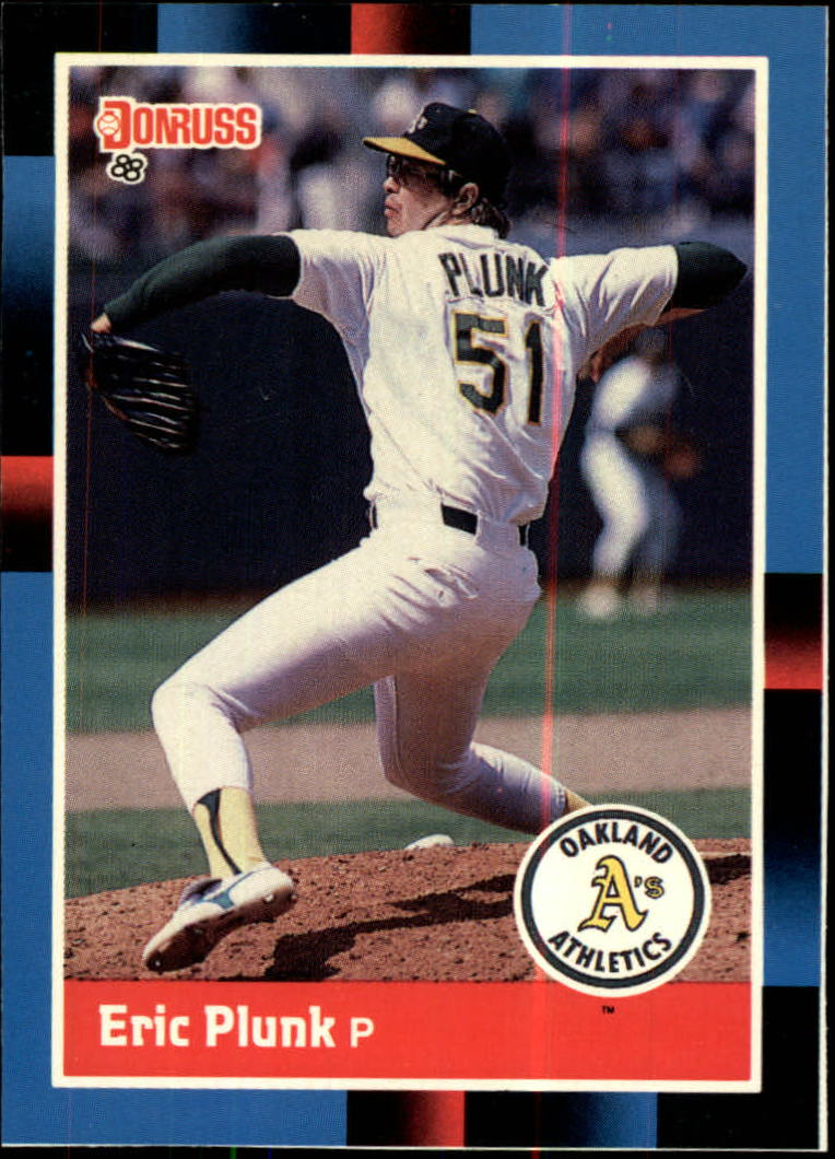 1988 A's Donruss Team Book #503 Eric Plunk