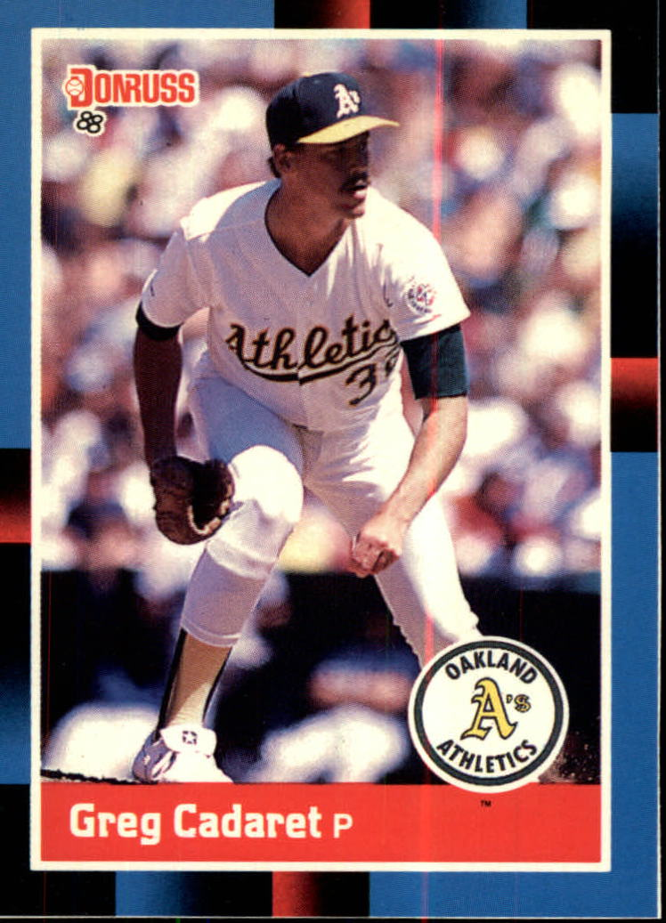 1988 A's Donruss Team Book #528 Greg Cadaret