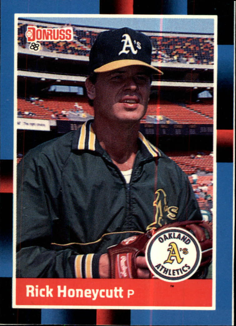 1988 A's Donruss Team Book #590 Rick Honeycutt