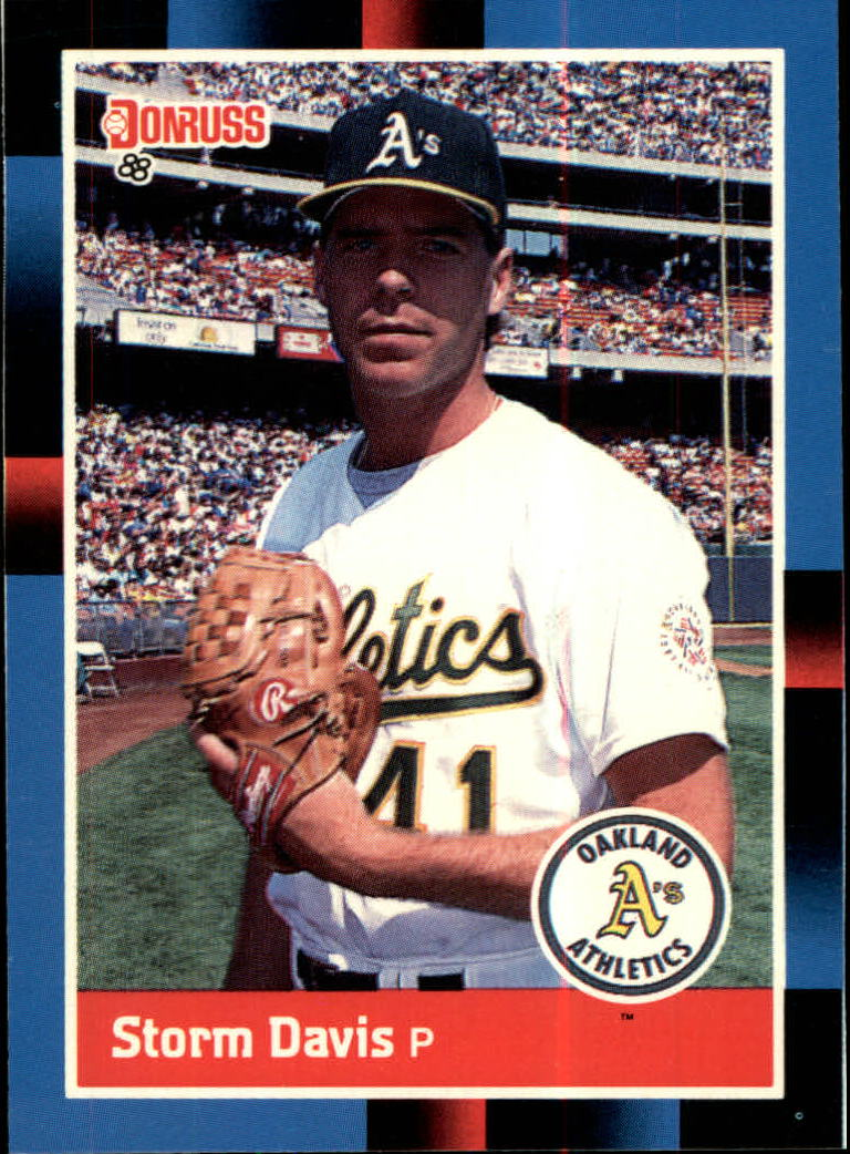 1988 A's Donruss Team Book #595 Storm Davis