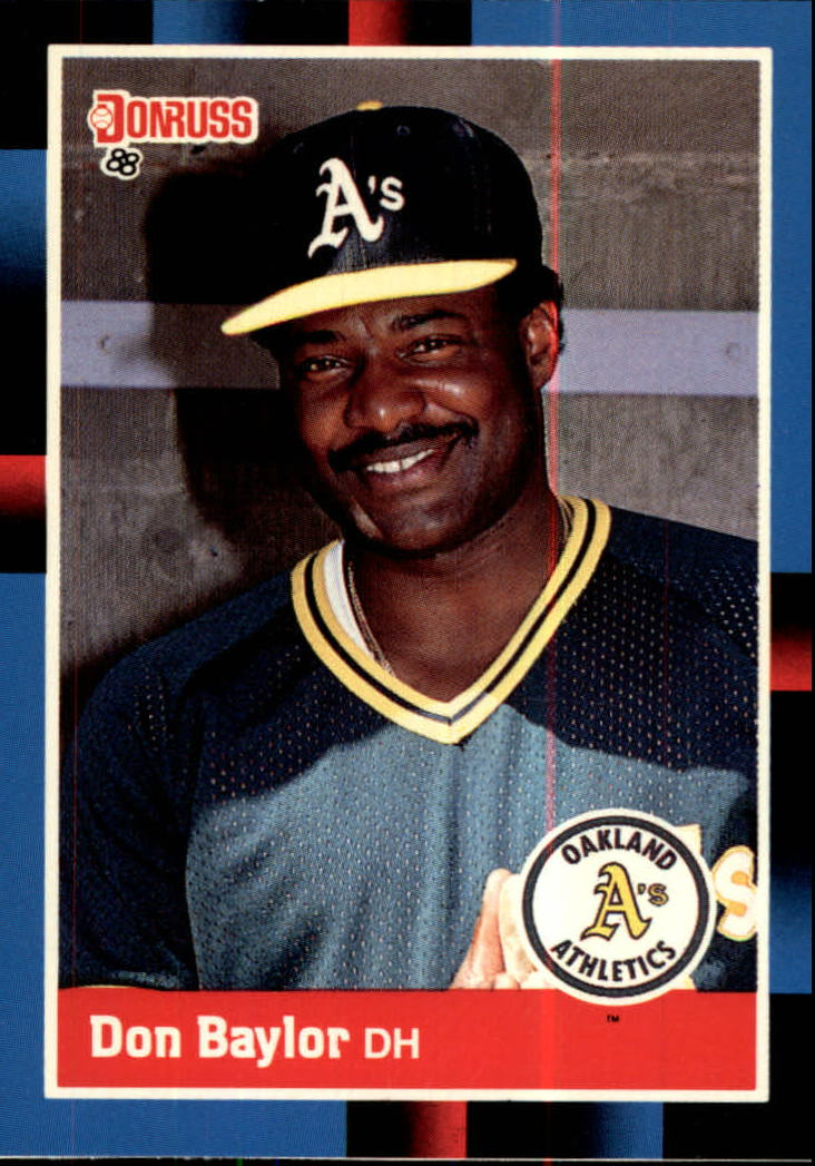 1988 A's Donruss Team Book #NEW Don Baylor UER/Incorrect career stats