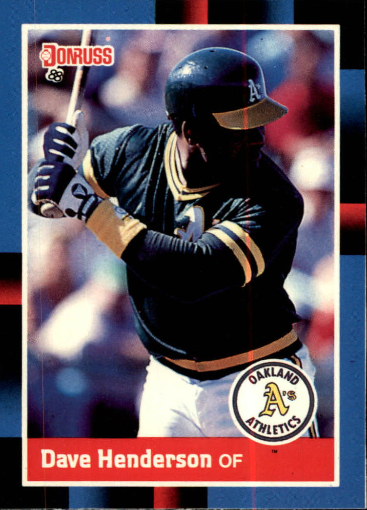 1988 A's Donruss Team Book #NEW Dave Henderson