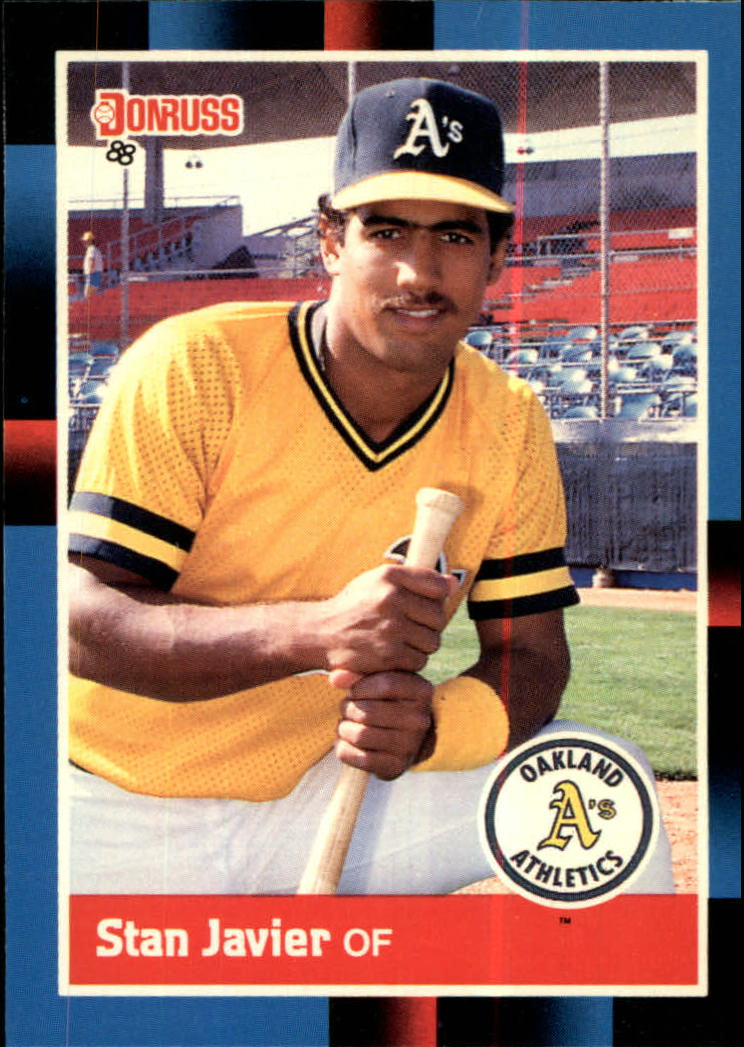 1988 A's Donruss Team Book #NEW Stan Javier