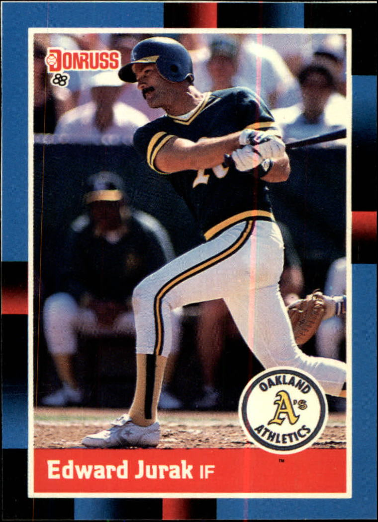 1988 A's Donruss Team Book #NEW Ed Jurak