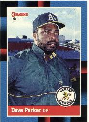 1988 A's Donruss Team Book #NEW Dave Parker