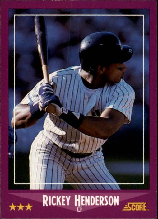 1988 Score #13 Rickey Henderson