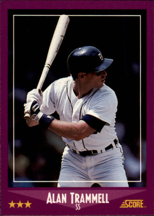 1988 Score #37 Alan Trammell