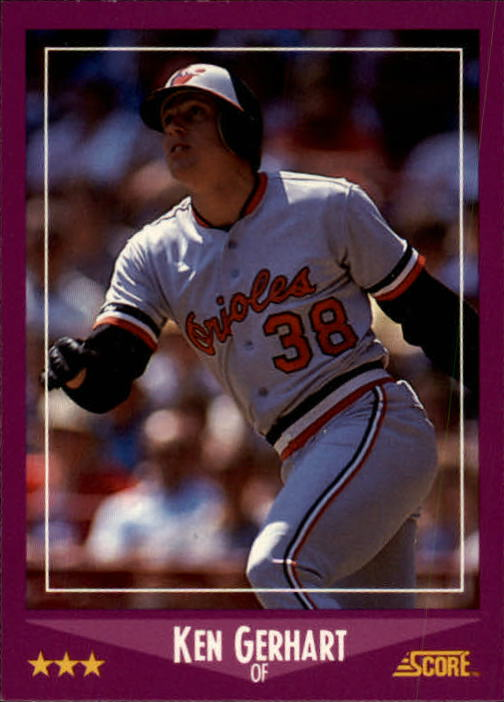 1988 Score #58 Ken Gerhart