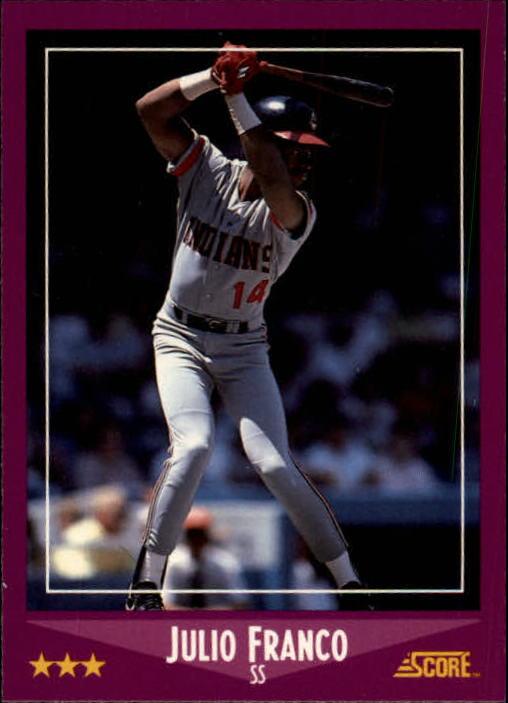 1988 Score #60 Julio Franco