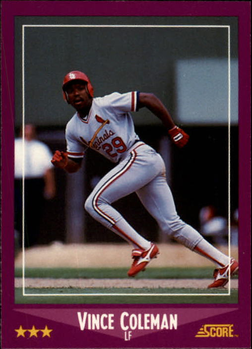 1988 Score #68 Vince Coleman