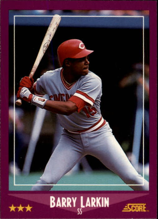 1988 Score #72 Barry Larkin