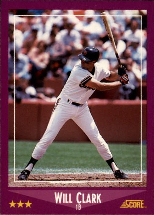 1988 Score #78 Will Clark UER/Born 3/17/64/should be 3/13/64