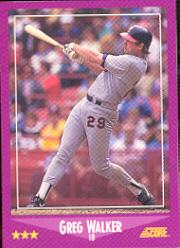 1988 Score #93B Greg Walker COR/93 of 660