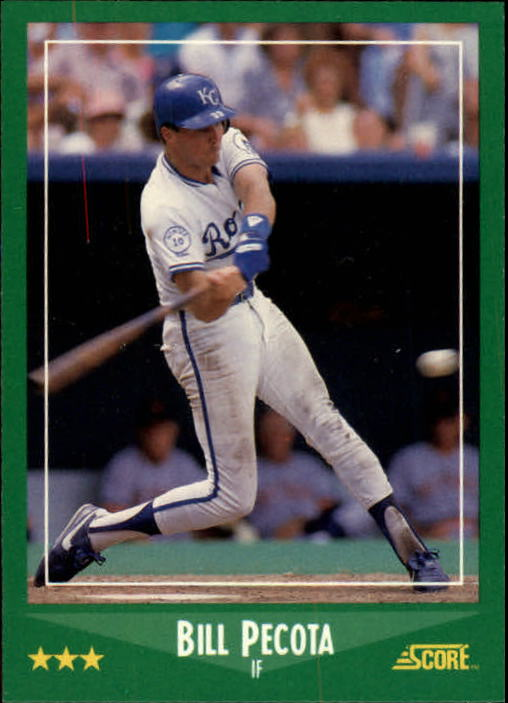 1988 Score #377 Bill Pecota RC