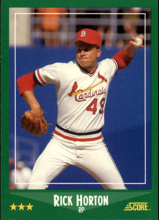 1988 Score #412 Ricky Horton