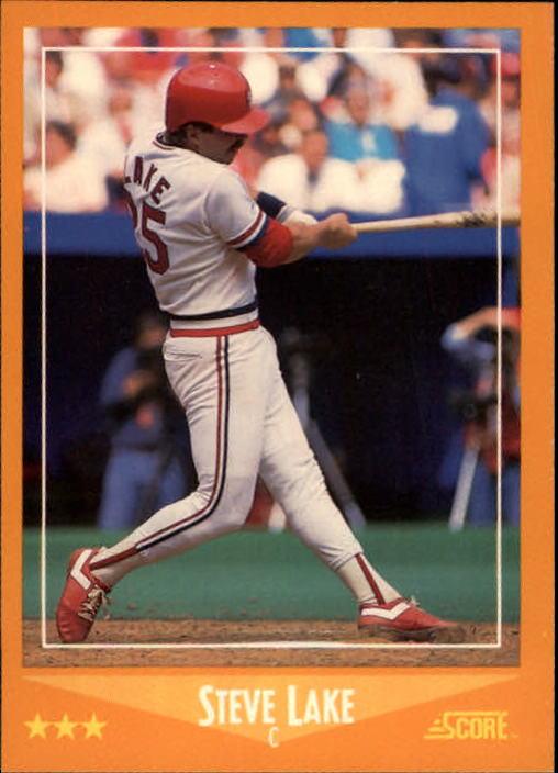 1988 Score #596 Steve Lake