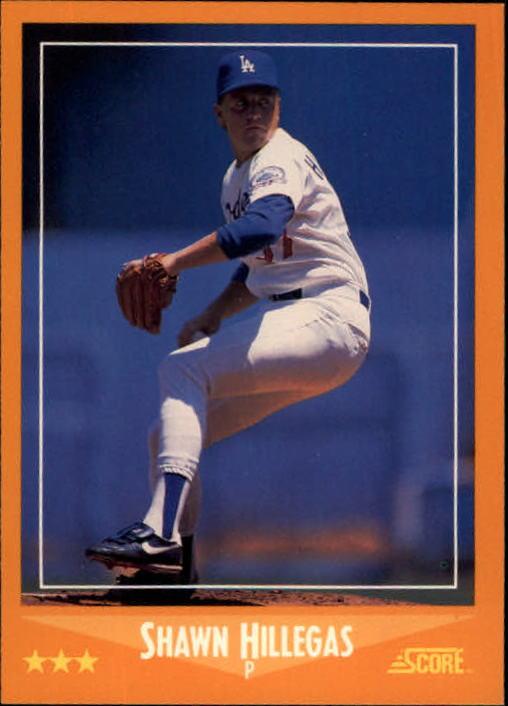 1988 Score #612 Shawn Hillegas RC