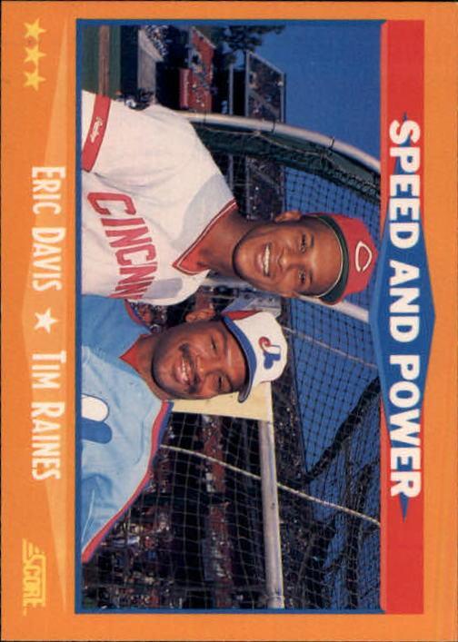1988 Score #649 Eric Davis/Tim Raines