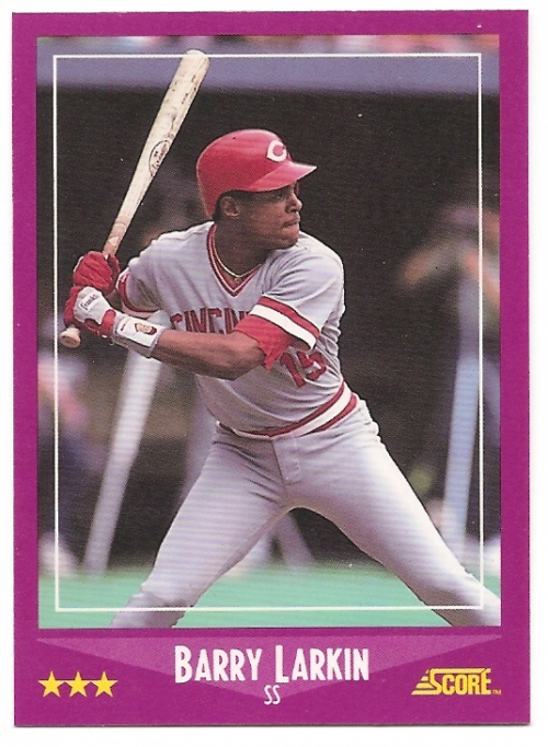 1988 Score Glossy #72 Barry Larkin