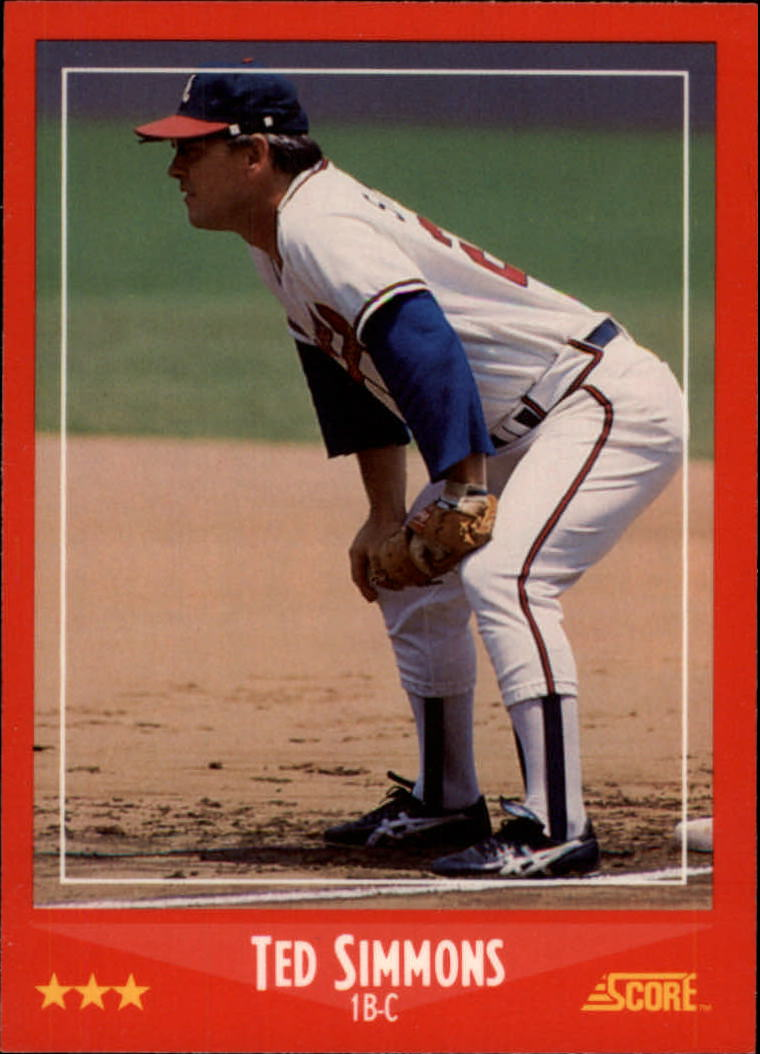 1988 Score Glossy #285 Ted Simmons