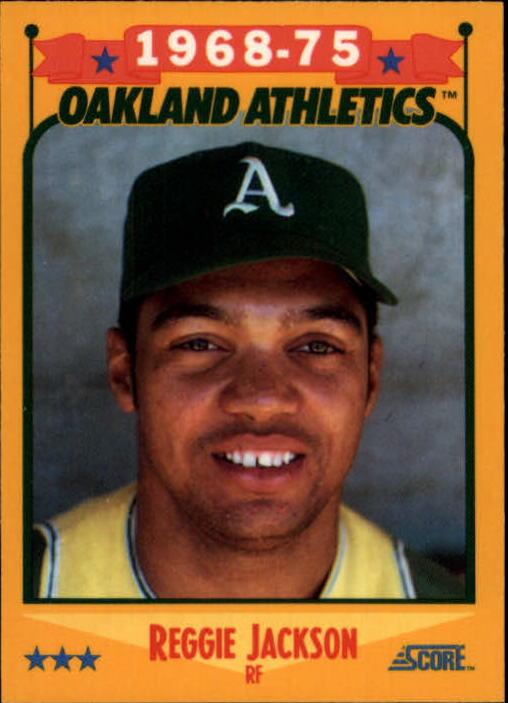 1988 Score Glossy #500 Reggie Jackson/(Oakland A's)