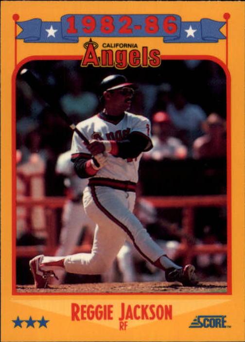 1988 Score Glossy #503 Reggie Jackson/(California Angels)